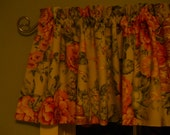 Floral valance Green Pink Blue Yellow 5th Avenue Chancery Lane