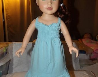 Baby blue knit sundress for 18 inch Dolls - ag239
