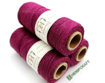 1mm Hemp Twine, Magenta Pink, High Quality Hemp Craft Cord