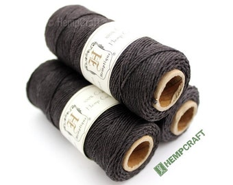 1mm Hemp Twine, Super Dark Brown, High Quality Hemp Craft Cord