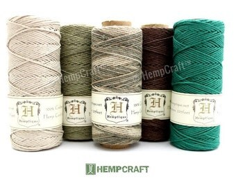 Hemp Twine, Woodland Colors, 5 Spools, Jewelry Making Hemp Crafting Cord