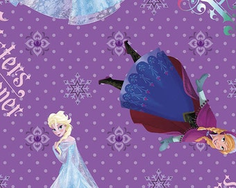 Frozen Sisters Forever Fabric by Springs Creative Elsa and Anna, 1 yard ON SALE