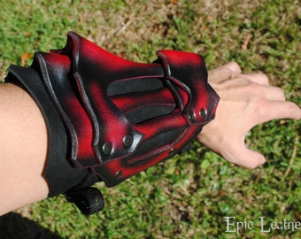LARP Ruby Dragon Bone Vambrace - Large