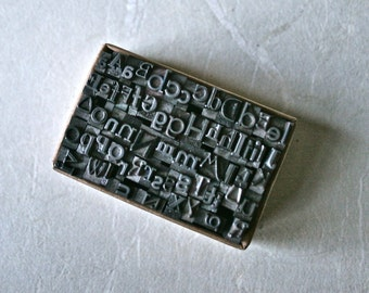 Tiny Letterpress Type Mixed Font Alphabet in a Box for Printing Stamping and Decor