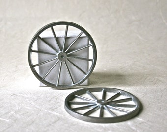 Three Inch Metal Wheels with Spokes for Crafts and Toy Making