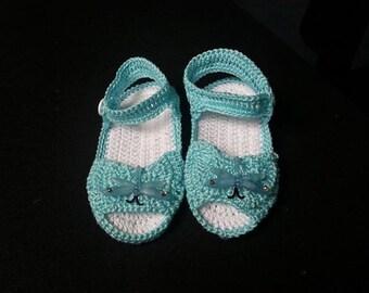 Crochet Teal Sandals