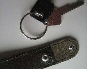 Olive Leather Key Chain