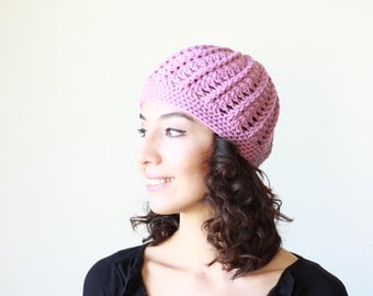 Lilac women crochet beanie, Winter hat women, crochet hat, ladies beanie, Women crochet cap, Women beanie, Women Skull Caps, Wool beanies