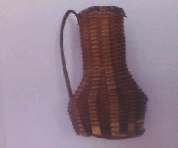 Tiny Wicker Basket With Handle : Vintage small wicker basket with handle by wilkesvintagefinds