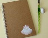 Sea shell hand painted A5 spiral notebook journal