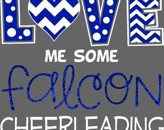 ORIGINAL DESIGN - Team Spirit Shirts, mix of, Polkadot, Glitter and Chevron. Cheer Mom Shirt, Team Spirit, Cheerleader Shirt