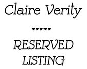 RESERVE LISTING for Marci