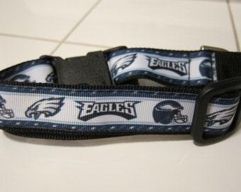 20% off after Eagles win!  Philadelphia Eagles Green and White Football Helmets NFL Adjustable Dog Collar