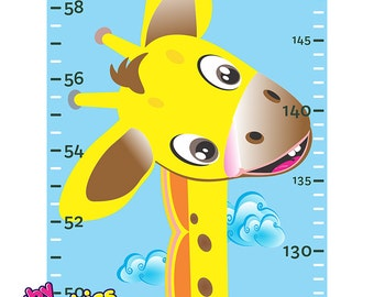 Giraffe Height Chart - Removable Decal Wall Sticker - by babygraphics