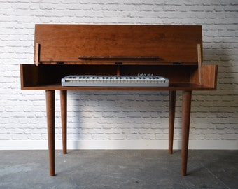 Solid Cherry Piano / Keyboard Table