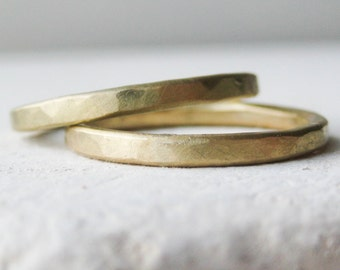 18ct Fairtrade Gold Ethical Wedding Ring Set