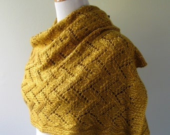 Hand Knit Shawl / Wrap PDF Pattern
