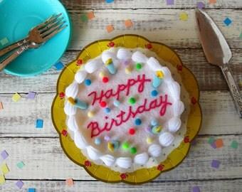 Felt Confetti Birthday Cake