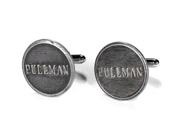 Steampunk Cufflinks, Mens Cufflinks, Vintage Steam Engine PULLMAN RAILROAD Uniform Locomotive Era Birthday, Fathers Day - Steampunk Boutique
