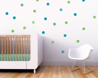 Wall Decal Confetti Wall Decal Dots Decal Green Polka Dot Circle Stickers Kids Wall Decal Boy Room Decor. Confetti Children Wall Decal