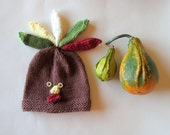 MADE TO ORDER Little Turkey Hat, baby or toddler hat, photo prop hat, turkey dress up hat, custom sizes
