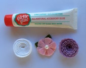 Stick on Flower Set - Girlie Glue - Baby Shower Set - Pink, Purple, & White