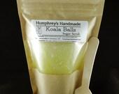 KOALA BALLS Peppermint Eycalyptus Sugar Scrub with Spoon, 6 oz Exfoliating Scrub,  Essential Oil Scrub 6oz, All Natural Oils, Moisturizing
