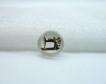 10pcs 12mm Handmade Photo Glass Cabochons (Sewing Machine) GB36-15