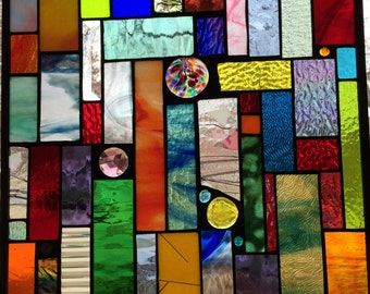 60th Birthday Gift of Stunning Stained Glass Panel