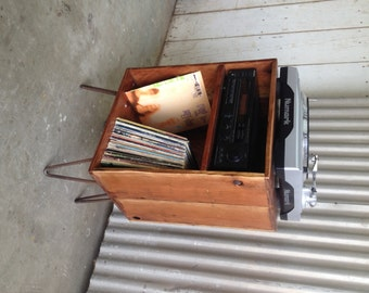 FRONTIER ~ Handmade Reclaimed Wood Record Storage Unit
