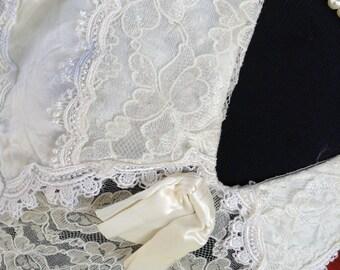Vintage Jessica McClintock Dress. Ivory Lace Dress. Lace Dress