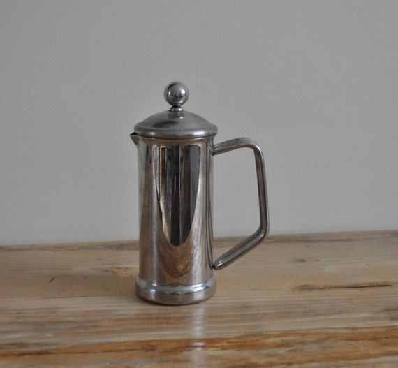 Vintage Cafetiere Stainless Steel Chrome
