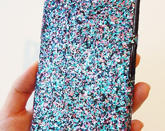 Sony Ericsson Xperia Z2 Multicolor Specks Sequin Cluster Cell Phone Bling Hard Case Cover