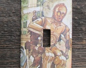 Star Wars Light Switch Plate / Upcycled / Recycled