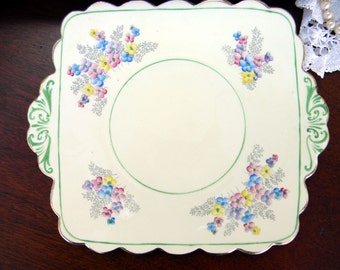 Old Foley China Plate - Vintage Plates 10402
