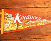 State Pride...Vintage Kentucky Felt Pennant, Travel Pennant, Souvenir Pennant