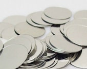 35 Metal Disc for Scrapbooking 3/4 inchs or 19mm by Pattys Crafty Spot