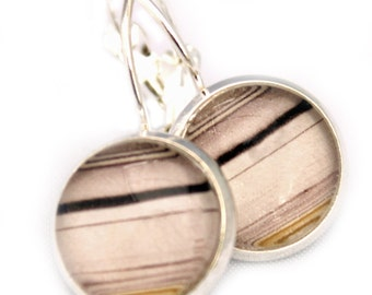 Sedimentary Chiyogami - Little round earrings