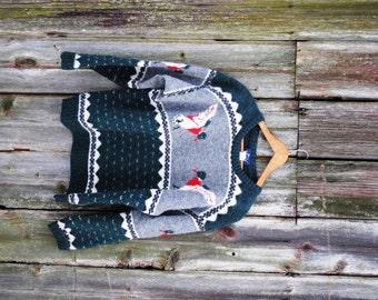 Vintage Men's Woolrich Preppy Duck Sweater