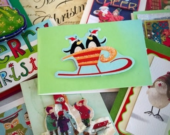 10 Eye-Catching Holiday Gift Card Tags for Christmas - red white green recycled and repurposed materials - nutcracker - santa - tree - merry