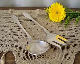 Vintage Serving Utensils Blackinton Fine Silverplate Serving Fork and Spoon Salad Server Holiday Utensils Vintage 1940s