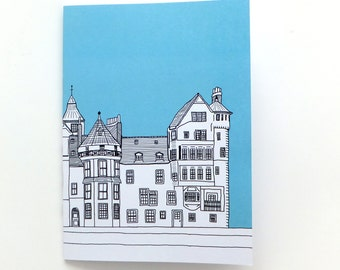 Edinburgh Notebook - Ramsay Lane, Edinburgh, Blue Journal, blank journal, Travel Journal