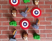 EDIBLE (Fondant Toppers) - Avengers Inspired