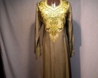 Stunning Embroidered Hippie Ethnic Dress Sari