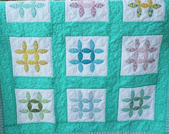 "Baby Quilt entitled ""The Hand Me Down"""