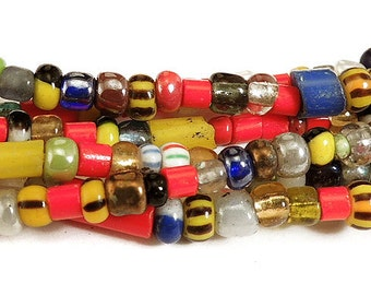 3 Strands Christmas Beads Trade Beads Love Beads African 32 Inch Strands 70187