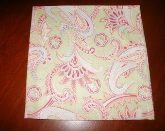 4 Reusable, Cotton Napkins...Stitched Hems Not Serged...17 inches...FREE SHIPPING