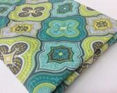 Minky Baby Blanket, Gender Neutral, Teal, Aqua, Grey, Yellow, Moroccan Design , Choose Color ofMinky Dot
