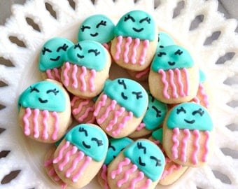 5 Dozen Jellyfish Mini Vanilla Sugar Cookies