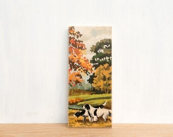 Paint by Number Art Block 'Autumn Hunt' - hunting dogs, fall foliage